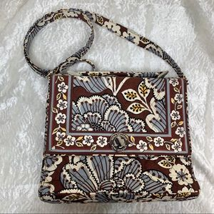 Vera. Easley blue and brown crossbody